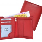 Hochformat Geldbörse rot uni