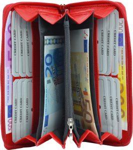 Damenbörse mit Smartphone Tasche rot