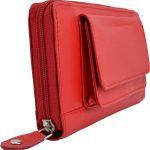 256-Damenbörse mit Smartphone Tasche rot